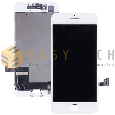 Touch Screen + Lcd Display + Frame Per Apple Iphone 7 Vetro Schermo Bianco Gls!!