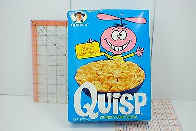 1999 QUISP Cereal Box  unopened watch offer Quaker