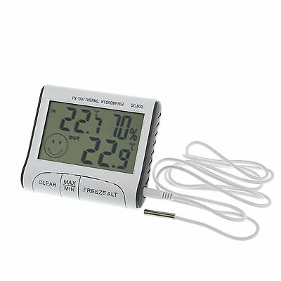 Digital Room Thermometer Hygrometer Max Min Temperature Humidity Indoor Outdoor