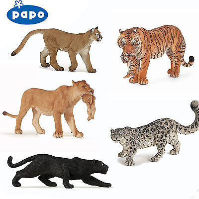PAPO Wild Animal Kingdom TIGERS LIONS LEOPARDS ETC - Choose for 28 all with Tags