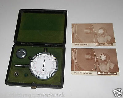 Vintage Hasler Speed Indicator Berne Made in Switzerland with Case