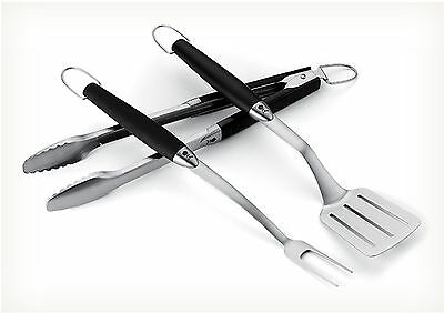 Weber 3-Piece Stainless Steel Grill and Barbecue Tool Set