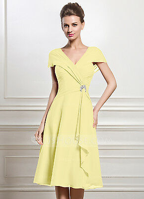 NWT Knee-length Mother-of-the-bride (size 12) Daffodil Chiffon Dress