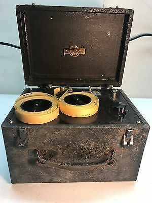 VINTAGE INSTRUCTOGRAPH Morse code telegraph instruction machine with tape 1920's