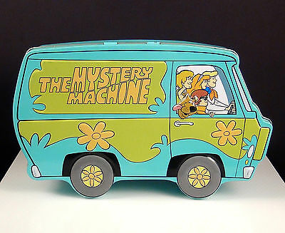 Collectible 1998 Scooby Doo Mystery Machine Hinged Tin Box by Hanna-Barbera