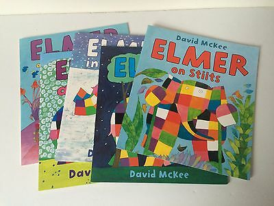 Lot of 5 ELMER books by David McKee  paperback
