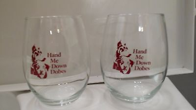 NEW DOBERMAN Wine Glass--Stemless