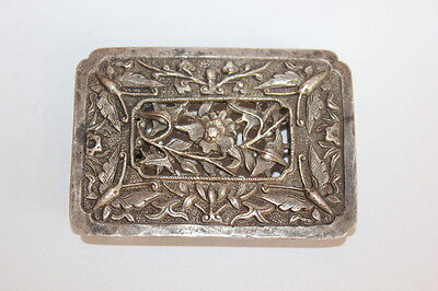 Rare Antique Chinese Sterling Silver Belt buckle