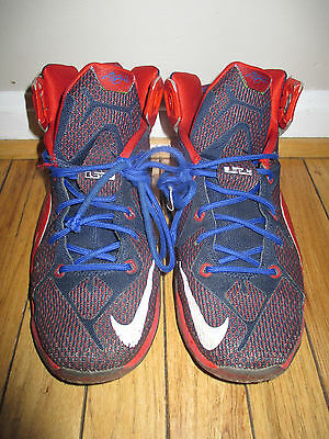 b7abc00be8db LEBRON XII SUPERMAN GS Youth Shoe Size 6.5Y 685181-601 Red Blue ...