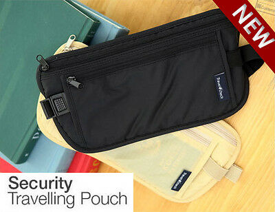 New Travel Security Waist Pouch Passport Money Card Ticket Belt Bag Hidden Walle