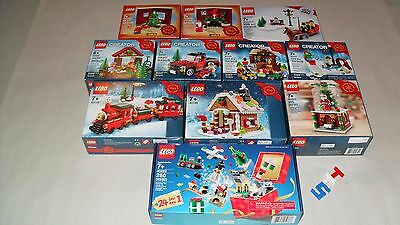 Choice LEGO New Sealed Limited Edition Christmas Holiday Sets 40139 40138 40082
