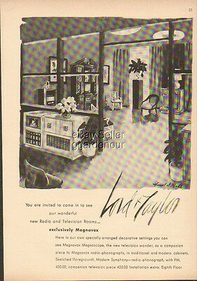 1948 Lord & Taylor Department Store New York City NY Radio & Television Ad