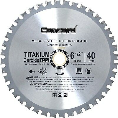 Concord Blades MCB0650T040HP 6-1/2-Inch 40 Teeth TCT Ferrous Metal Cuttin... NEW