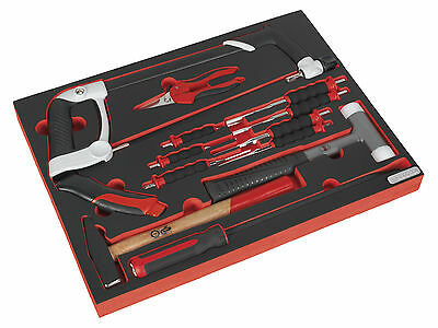TBTP06EU Sealey Tool Tray with Hacksaw, Hammers & Punches 13pc [Tool Trays]
