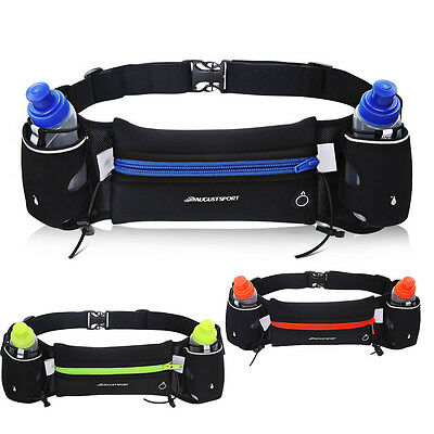 Hydration Running Belt by Camden Gear Pack with 2 water bottles iPhone 6s 7 Plus