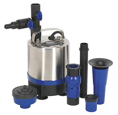 WPP1750S Sealey Submersible Pond Pump Stainless Steel 1750ltr/hr 230V