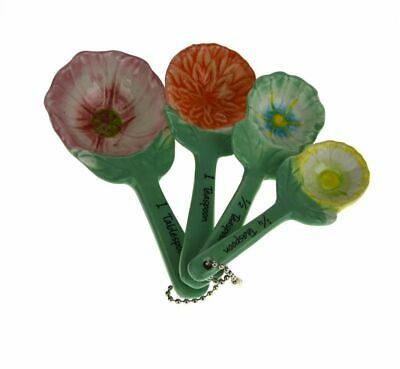 NEW ANNA GARE FLOWER MEASURING SPOONS Set Cup Kitchen Aid Utensil Baking