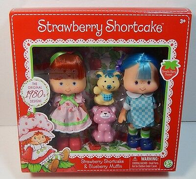 Strawberry Shortcake & Blueberry Muffin Doll Scented Dolls 1980's Design & 2Pets