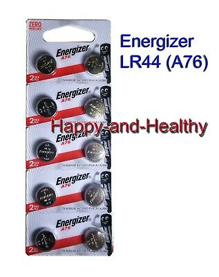 Energizer LR44  AG13 A76 button coin Batteries x 10 pcs Free shipping