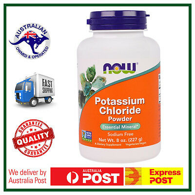 Potassium Chloride Powder 8oz (227g) by NOW Foods - PURE ESSENTIAL MINERAL AUS