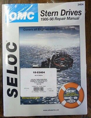OMC Stern Drive 1986-98 Seloc Repair Manual 3404 Brand New