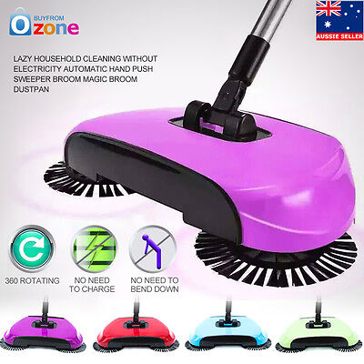Lazy Household Cleaning Without Electricity Automatic Hand Push Sweeper Broom