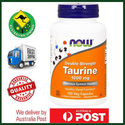 Taurine 1000 mg 100 Veg Caps, NOW Foods, Nervous System Health - DOUBLE STRENGTH