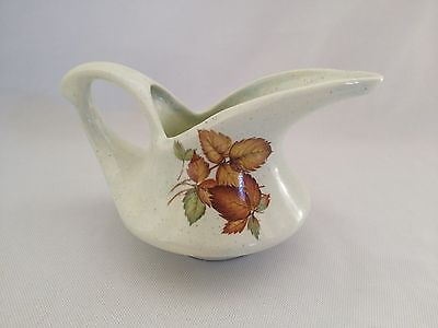 Lovely Unusual Hand Made Green Pottery Gravy Boat - 1992
