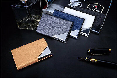 Rfid Travel Card Wallet Leather Waterproof Credit ID Metal Card Holder  Carteira