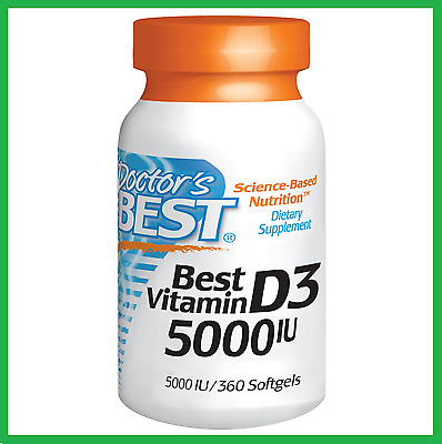 Doctor's Best Vitamin D-3 5000 IU 360 Softgels - AUS STOCK FAST SHIPPING D3