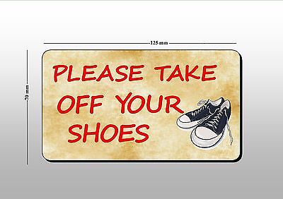 please take off your shoes  door sticker window sticker