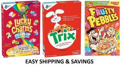 New American Cereal Wide Variety Cocoa Puffs Lucky Charms + More Free World Ship