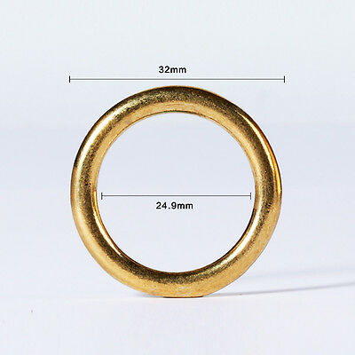 """1"""" Solid Brass O Rings For Saddle Case Bag Leather Craft New"""