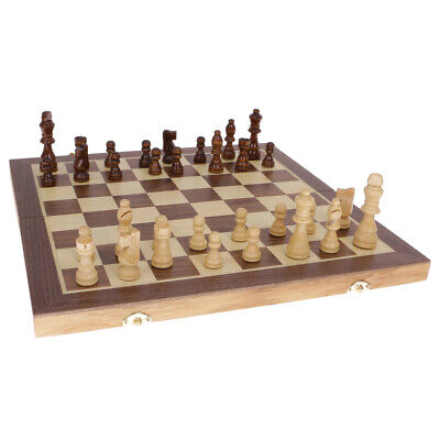 Large 39.5CM Classic Folding Wooden Chess Set Chess Board Game Educational