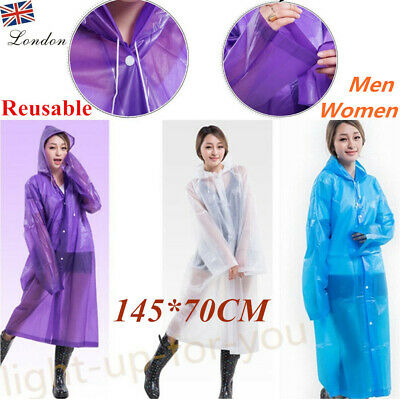 Adults Transparent Clear Recyclable Emergency Raincoat Waterproof Poncho Quality