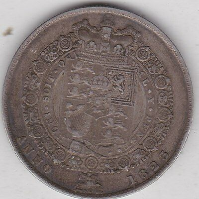 1823 George Iiii Silver Half Crown In Near Very Fine Condition
