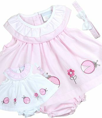 BabyPrem Baby Girls Dress Bloomers Headband Outfit Pink 0-3  3-6  6-9 months