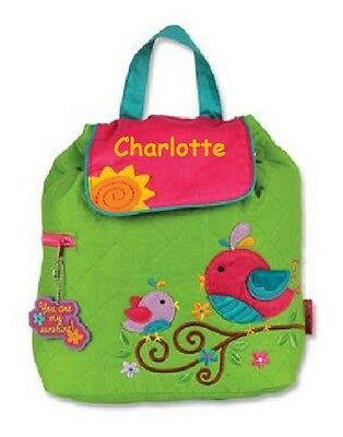 Stephen Joseph Bird Quilted Backpack Girls Rucksack Bag - can be personalised