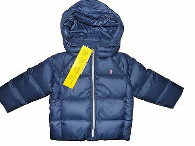 Baby girls navy blue Ralph Lauren down filled jacket age 18 Months BNWT RRP £115