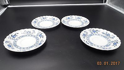 J G Meakin Blue Nordic Set Of 4 Ironstone Saucers
