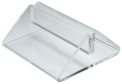 Plastic Menu Holder Tent Type Clear Perspex Card Holder A4 A5 68mm Wide Slotted