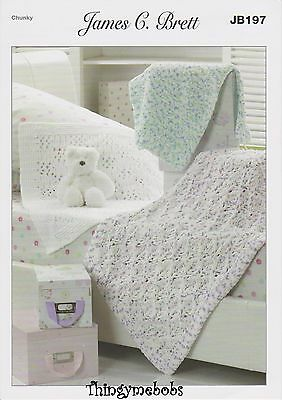 James C Brett Jb197 Blanket Original Knitting Pattern - 3 Styles