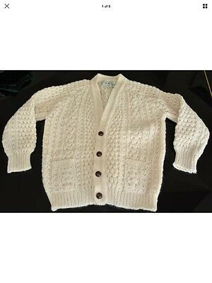 Kids Cladyknit Donegal Handknit Irish Cardigan Sweater Excellent 12