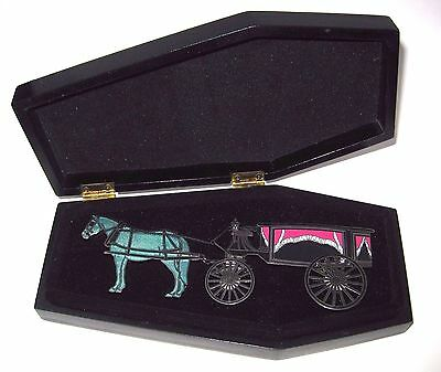 JUMBO LE Disney Pin✿Haunts Haunted Mansion Hearse Deadly Delivery Horse Coffin