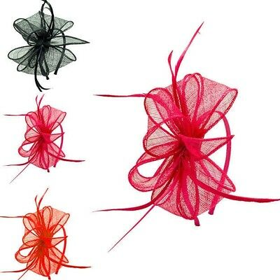 Lady Princess Headband Head Flower Fascinator Sinamay Large Wedding Occasion