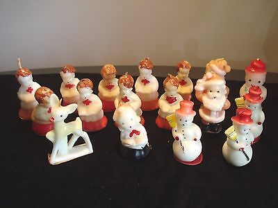Vintage..Lot Of 17...Gurley & Socony Vacuum Oil Co.....Christmas Tavern Candles