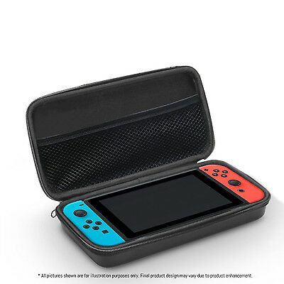 FlexFirm Protective Carry Case Cover for Nintendo Switch Console - Black
