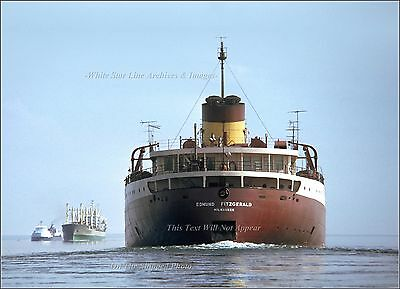 Photo: The last Days Of The SS Edmund Fitzgerald - St. Mary's River, 1975