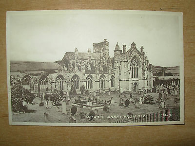 Vintage Postcard Melrose Abbey Scotland