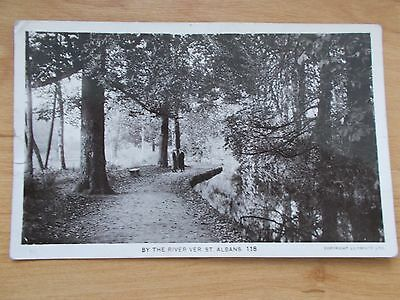 Vintage 1916 Postcard - By The River Ver - St Albans  Rp